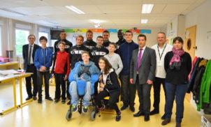 Rencontre du Clermont Foot 63 au Collège de l'Oradou – Mai 2016