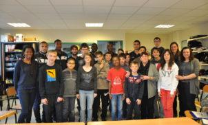 Rencontre du Clermont Foot 63 au Collège R. QUILLIOT – 2014