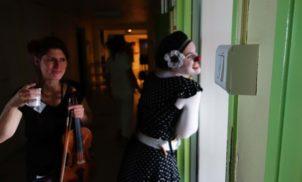 Violon et clown à l'hôpital de Moulins – Novembre 2017