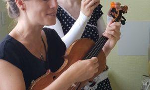 Clown et violon au service pédiatrique de Moulin – Juillet 2018